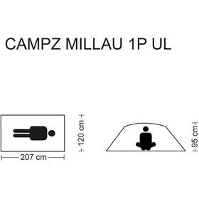CAMPZ Millau Ultralight Tienda de Campaña 1P, verde/Oliva